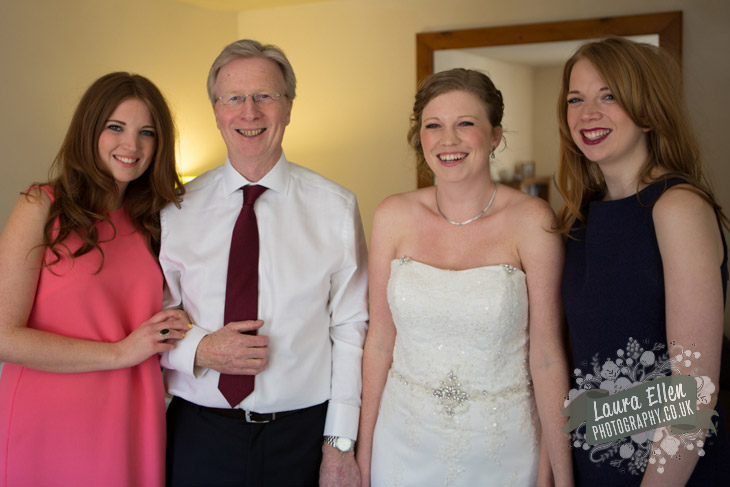 Bride with Bridesmaids and Father of the Bride
