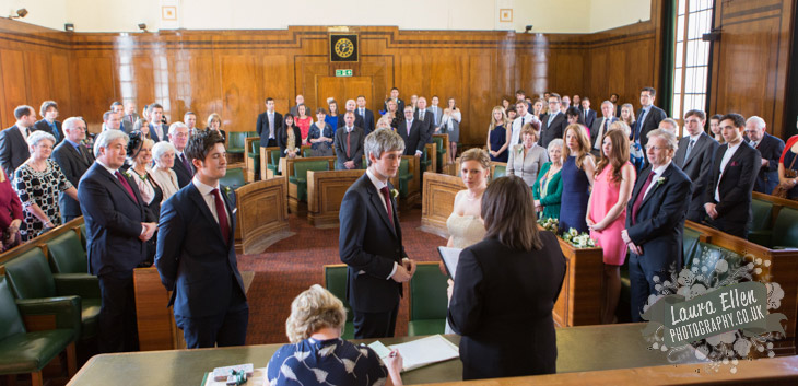 Council Chamber at Hackney Town Hall wedding