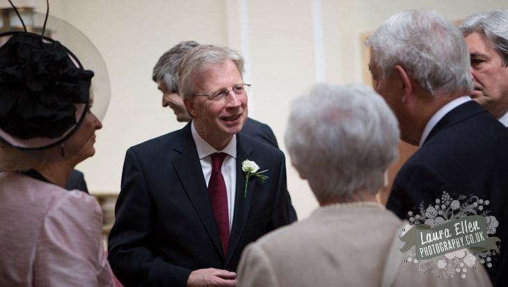 Guests chatting at London wedding