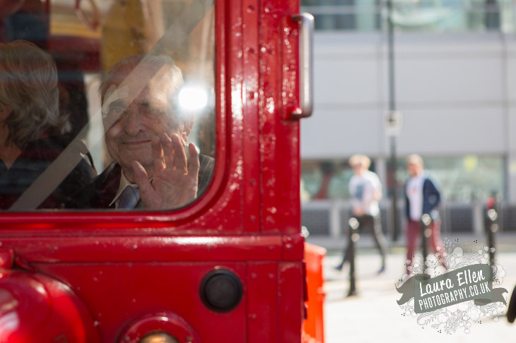 Grandfather on Wedding Routemaster