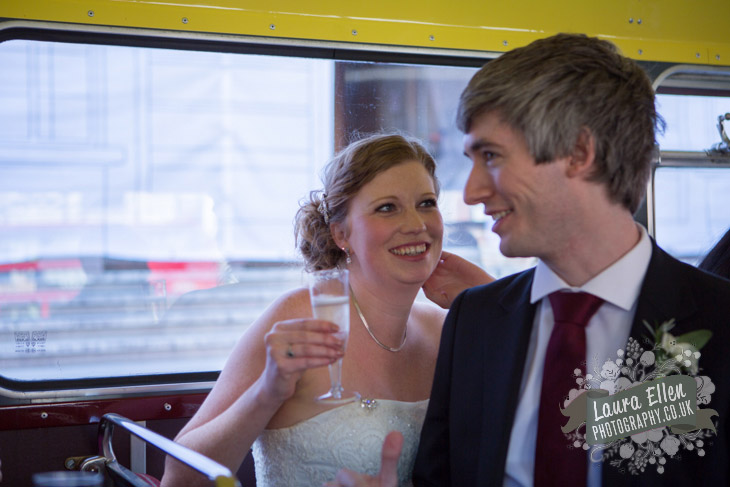 Bride and Groom on Routemaster