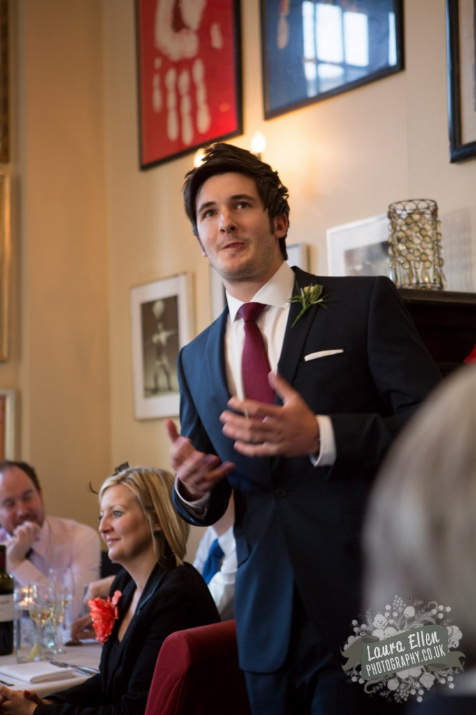 Bestman speech at East London gastro pub wedding