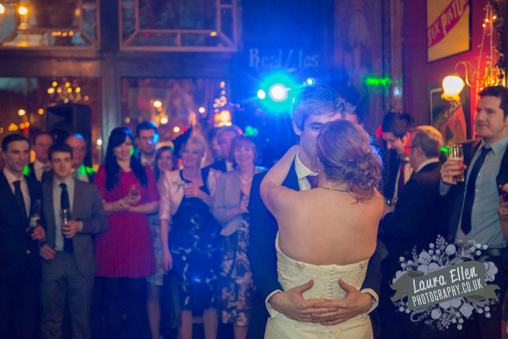 Bride and Groom first dance at London gastro pub wedding