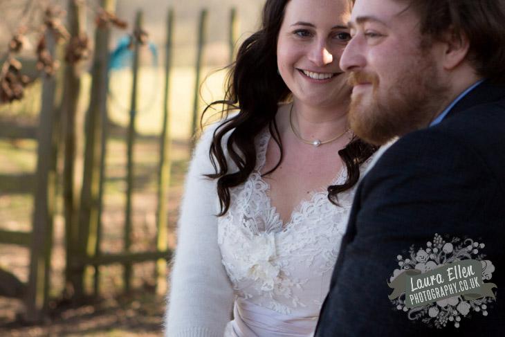 Bride looking at her Groom