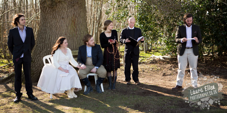 Hand fasting ceremony at Swallowtail Hill Farm wedding