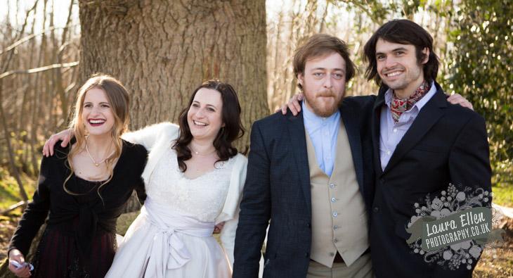 Bride, Groom, Matron of Honour and Bestman