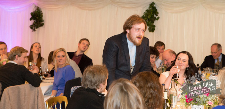 Groom speech at Sussex country wedding
