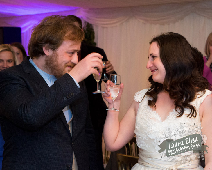 Bride and Groom make a toast