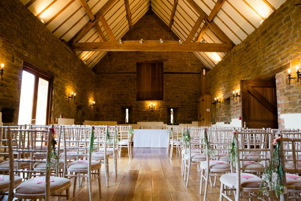 Crockwell Farm wedding indoor ceremony