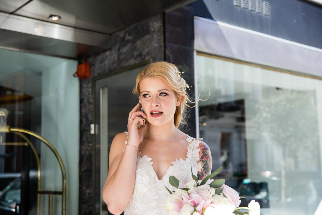 bride at The Marylebone Hotel London