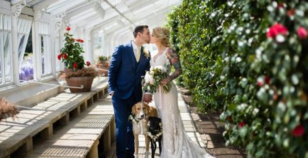Chiswick House and Gardens wedding with dogs