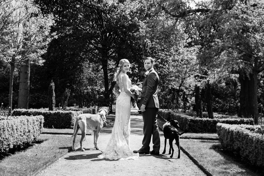 wedding day portraits in London gardens