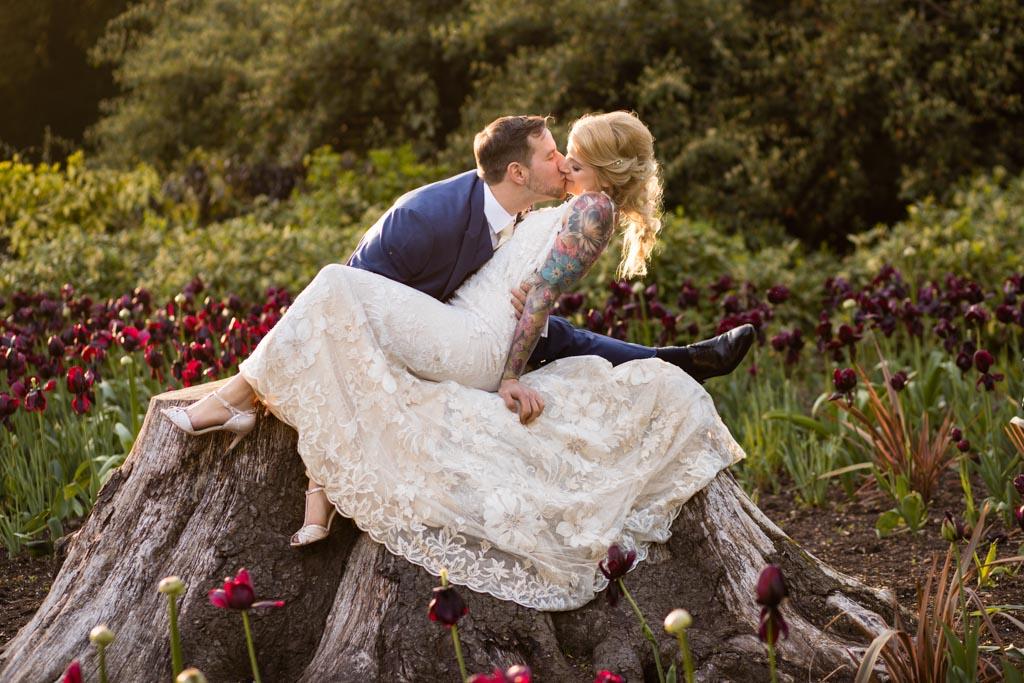 wedding portraits of bride and groom Laura Ellen Photography