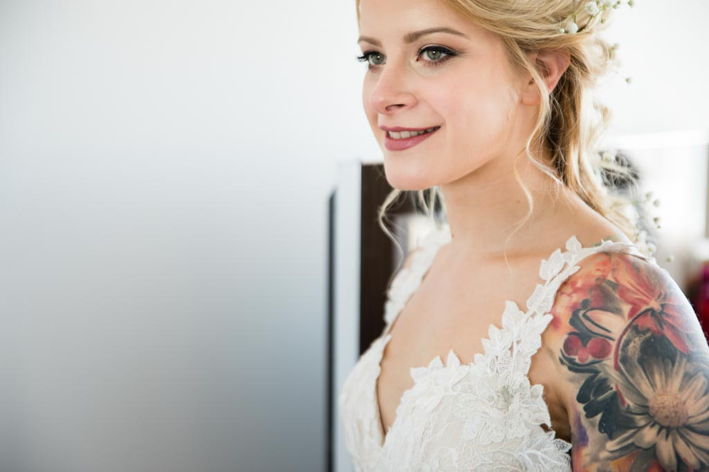 tattooed bride to be