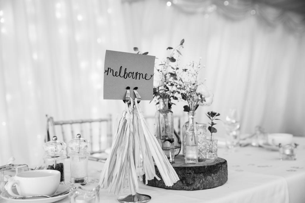 table names flower bud vases tassels