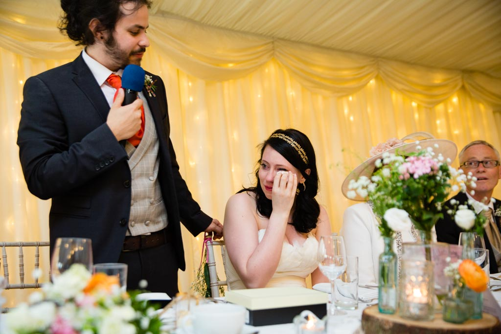 emotional wedding day speeches