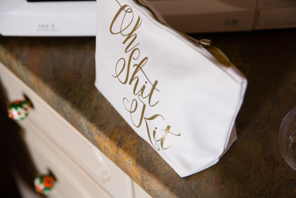 bridal make-up bag